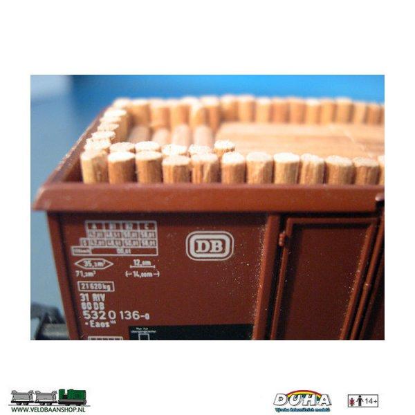 DUHA 11110 Holz ohne Borke, 164x29x28 mm H0