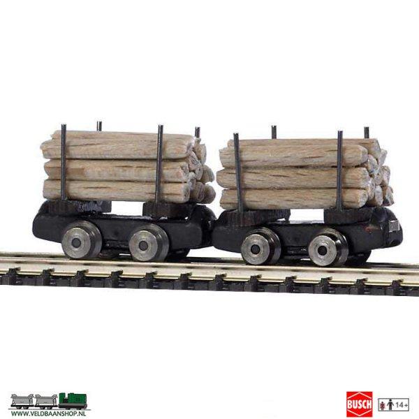 Busch 5025 Mijnbouw Rongenwagen 2 Stuks H0f