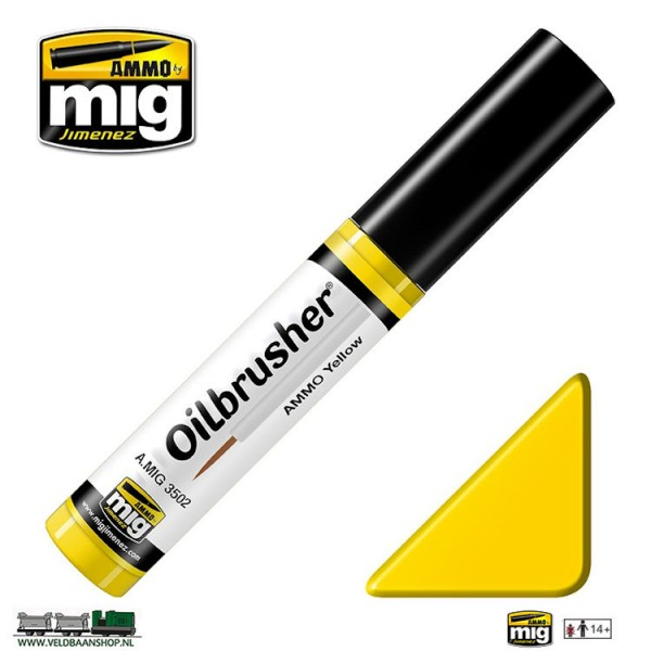 MIG 3502 Ammo MIG Jimenez Oilbrusher Yellow